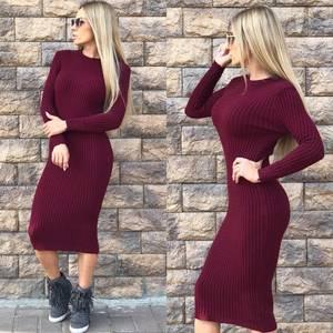 Платье короткое облегающее теплое Ф0298