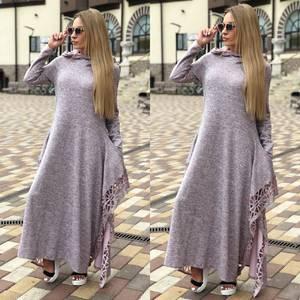 Платье длинное с длинными рукавами повседневное Ф0362