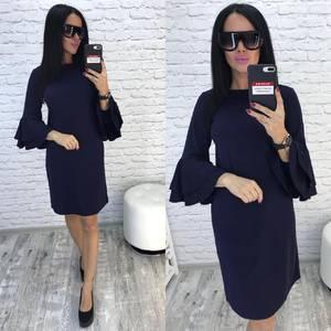 Платье короткое нарядное черное Ф0729