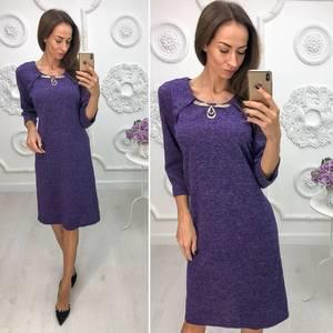 Платье короткое нарядное трикотажное Ф1384