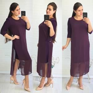 Платье длинное нарядное однотонное Ф1406