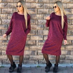 Платье короткое трикотажное однотонное Ф1753
