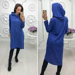 Платье короткое с длинным рукавом трикотажное У9780