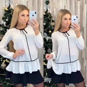 Блуза с длинным рукавом белая Ф8018