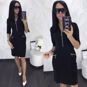Платье короткое с рукавом 3/4 облегающее Х8024