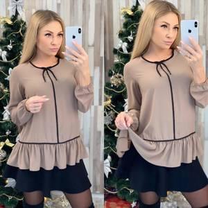 Блуза с длинным рукавом для офиса Ф8019