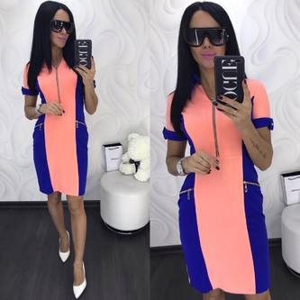 Платье короткое с рукавом 3/4 облегающее Х8026