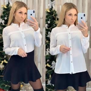 Рубашка с длинным рукавом белая Ф8025