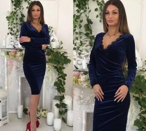 Платье короткое с длинным рукавом облегающее Ф5297