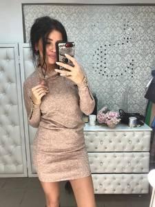 Платье короткое с длинным рукавом современное Ф6020