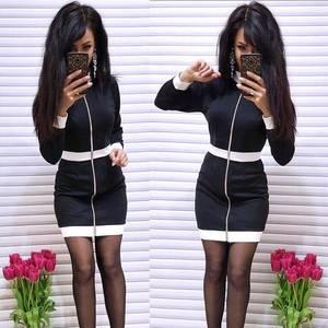 Платье короткое с длинным рукавом облегающее Ф9872