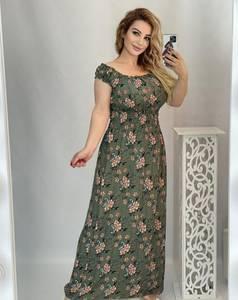 Платье длинное с коротким рукавом А48206