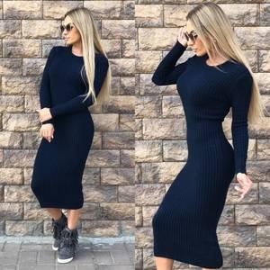 Платье короткое облегающее теплое Ф0299