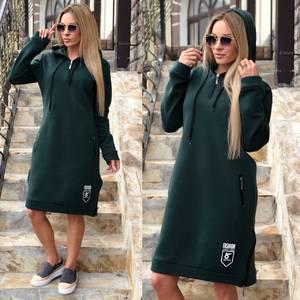 Платье короткое с длинным рукавом повседневное Ф0370