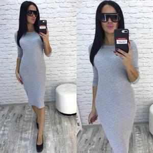 Платье короткое облегающее однотонное У9639