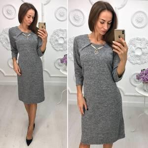 Платье короткое нарядное трикотажное Ф1385
