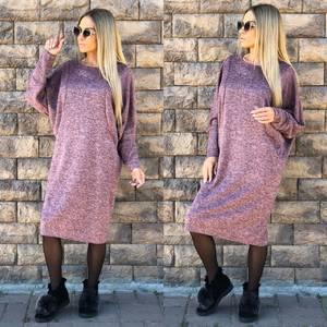 Платье короткое трикотажное однотонное Ф1754