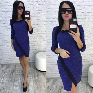 Платье короткое трикотажное облегающее У9785