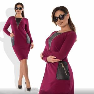 Платье короткое нарядное красное Ф2308
