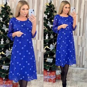 Платье короткое нарядное с принтом Ф7953