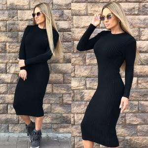 Платье короткое облегающее теплое Ф0300
