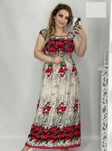 Платье длинное с коротким рукавом А48207