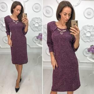 Платье короткое нарядное трикотажное Ф1386