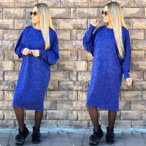 Платье короткое трикотажное однотонное Ф1755