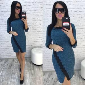 Платье короткое трикотажное облегающее У9786