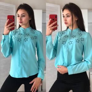 Рубашка с длинным рукавом с принтом Ф2974