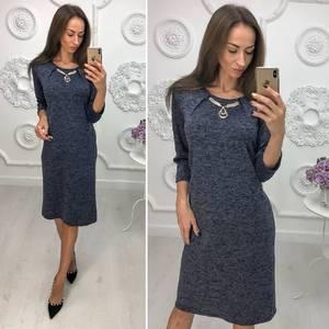 Платье короткое нарядное трикотажное Ф1387