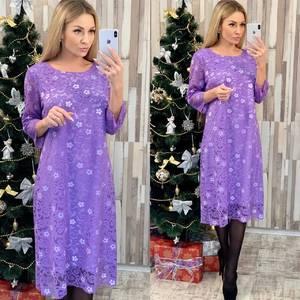Платье короткое нарядное с принтом Ф7954