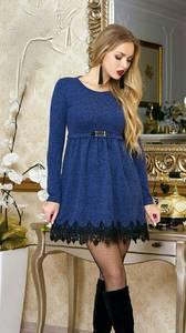 Платье короткое нарядное с длинным рукавом Ф9874
