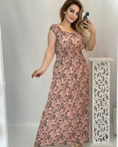 Платье длинное с коротким рукавом А48208