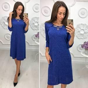 Платье короткое нарядное трикотажное Ф1388