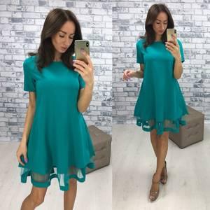 Платье короткое нарядное летнее Ф1524