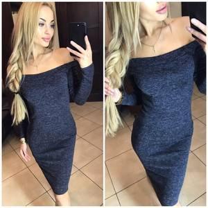 Платье короткое с длинным рукавом облегающее Ф6060