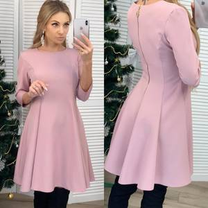Платье короткое коктейльное с рукавом 3/4 Ф6452