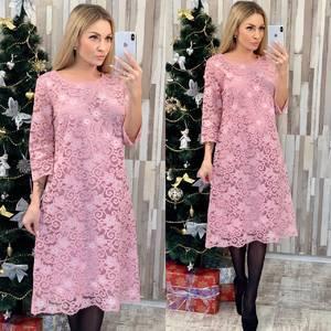 Платье короткое нарядное с принтом Ф7955