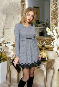 Платье короткое нарядное с длинным рукавом Ф9875