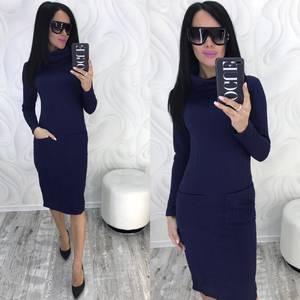 Платье короткое с длинным рукавом зимнее Ф9881