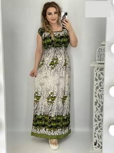 Платье длинное с коротким рукавом А48209