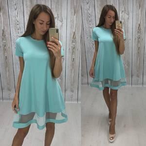 Платье короткое нарядное летнее Ф1525