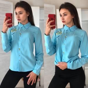 Рубашка с длинным рукавом с принтом Ф2977