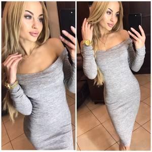 Платье короткое с длинным рукавом современное Ф6061
