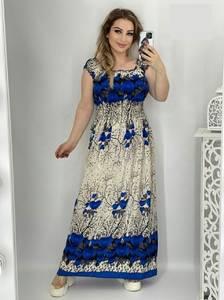 Платье длинное с коротким рукавом А48210