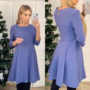 Платье короткое коктейльное с рукавом 3/4 Ф6454