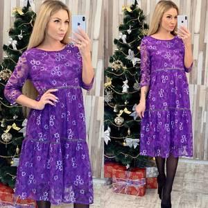 Платье короткое нарядное с принтом Ф7957
