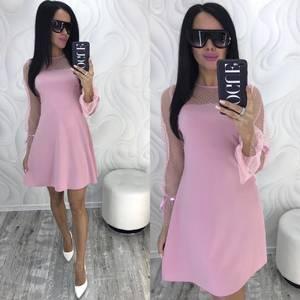 Платье короткое нарядное классическое Ф9883