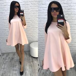 Платье короткое однотонное современное Ф0735